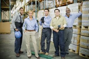 Royal_4_warehouse_employees_pose_for_picture